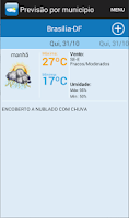 Screenshot of INMET Tempo e Clima