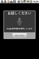 Screenshot of Voice Input