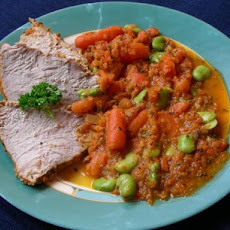 Veal Roast With Fava Beans