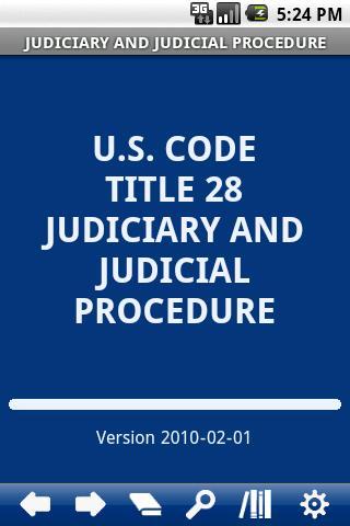 USC T.28 Judiciary Judicial P.
