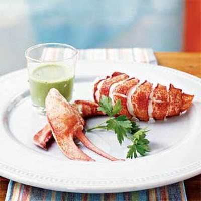 Steamed Lobster with Parsley Emulsion