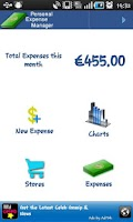 Screenshot of Personal Expense Manager