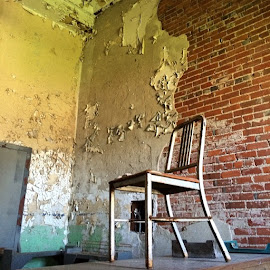 Mansfield Reformatory1886 - 1990~ Brygida06/14/14 by Bridget Wegrzyn - Buildings & Architecture Decaying & Abandoned ( Chair, Chairs, Sitting )