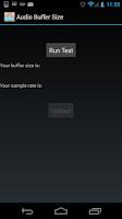 Screenshot of Audio Buffer Size