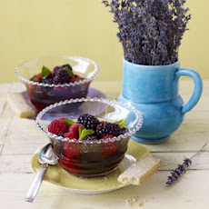 Summer Berries With Mint Tea & Lavender Shortbread