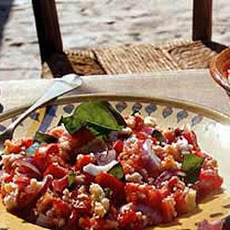 Tomato and Bread Salad with Red Onion