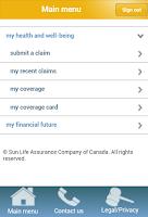 Screenshot of my Sun Life (Canada)
