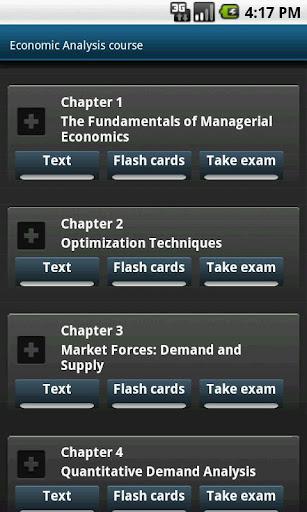 Economic Analysis course. MBA