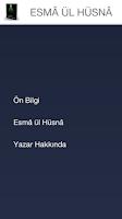 Screenshot of ESMA ÜL HÜSNA - ALLAH İSİMLERİ
