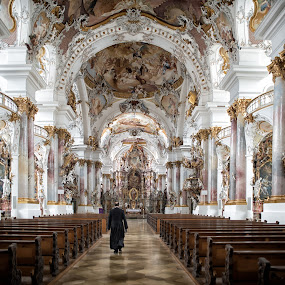Zwiefalten Abbey by Johannes Oehl - Buildings & Architecture Places of Worship ( baden-wuerttemberg, zwiefalten abbey, baroque, benedictine monastery, zwiefalten, germany, kloster zwiefalten, reichsabtei zwiefalten, german baroque, münster, badenwürttemberg, abtei zwiefalten, , Architecture, Ceilings, Ceiling, Buildings, Building )