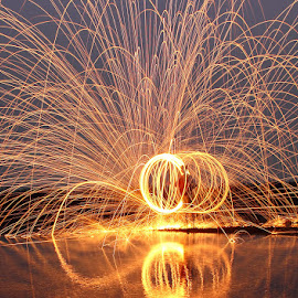 Spinning Fire by Karthi Keyan - Abstract Light Painting ( abstract, fine art, fire )