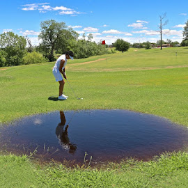 Golf Reflection by Kathy Suttles - Sports & Fitness Golf
