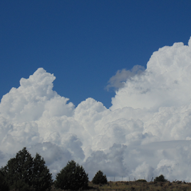 AWESOME THUNDERHEADS by SHARON ARMIJO - Landscapes Cloud Formations ( clouds, thunderheads, blue sky, weather, storms )
