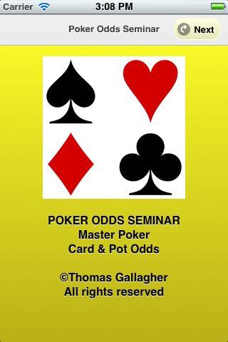 Poker Odds Seminar