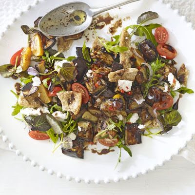 Aubergine & Goat's Cheese Salad With Mint-chilli Dressing