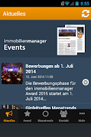 Screenshot of immobilienmanager Events