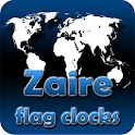 Zaire flag clocks icon