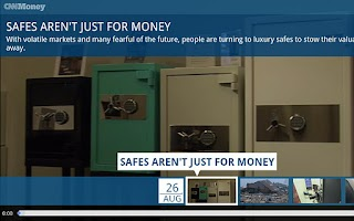 Screenshot of CNNMoney For Google TV