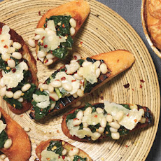 Kale and Bean Bruschetta