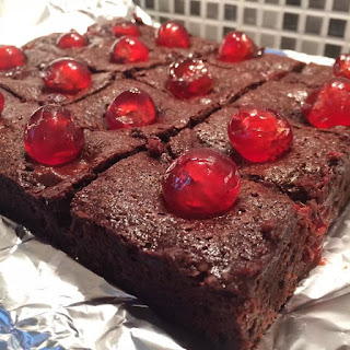 Double Choc Raspberry Brownies
