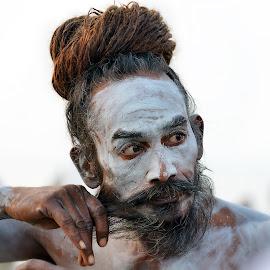 SADHU by Rajib Kumar Bhattacharya - People Portraits of Men