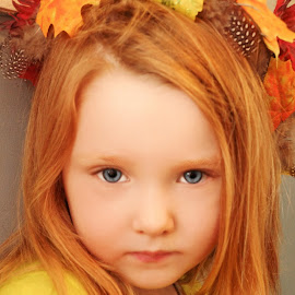 Fall Girl by Cheryl Korotky - Babies & Children Child Portraits