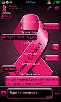 Screenshot of GO SMS PRO BREAST CANCER THEME