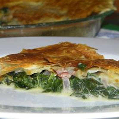 Spinach Pie with Pancetta