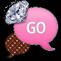 GO SMS - Heart Diamonds 3 icon