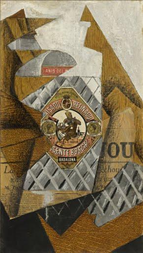 The Bottle of Anís del Mono, Juan Gris