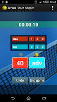 Screenshot of Tennis Score Keeper