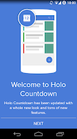 Screenshot of Holo Countdown