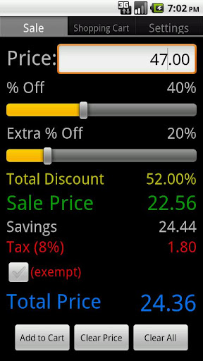 Sale Discount Calculator