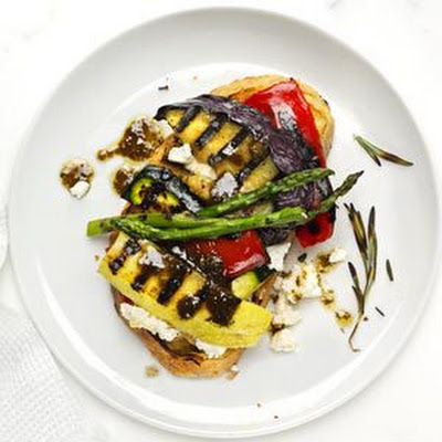 Open-Face Grilled Vegetable Sandwich