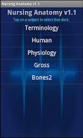 Screenshot of Nursing Anatomy