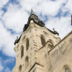 Upwards by Lori White - Buildings & Architecture Public & Historical ( sky, church, san antonio, architecture, historical )