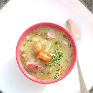 Rosemary Cannellini Bean Soup with Ham