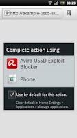Screenshot of Avira USSD Exploit Blocker