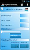Screenshot of My Cluster Headache