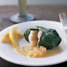 Halibut Wrapped in Greens