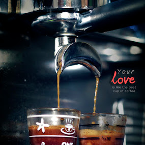 honey , im home  by Sesar Arief - Typography Captioned Photos ( love, wife, quote, coffee, sesararief )