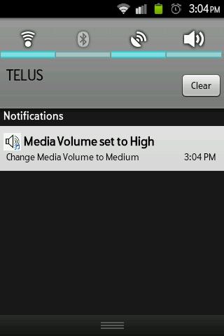 Media Volume Toggle