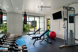 The resort gym