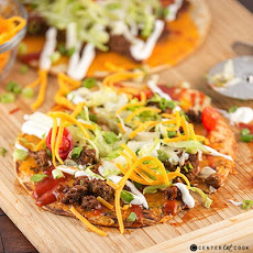 Taco Flatbread Pizza