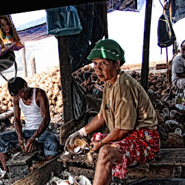 Copra Workers by Bob  Matkodak - People Street & Candids (  )