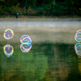 Bubbles over the water by Cary Chu - Artistic Objects Other Objects