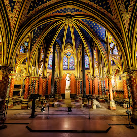Sainte-Chapelle, Paris by Michael Wiejowski - Buildings & Architecture Public & Historical ( paris, europe, church, france, travel, chapel )