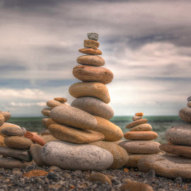 Stacked pebbles by Brian Miller - Artistic Objects Other Objects ( canon, pebbles, seaside, beach, coast )
