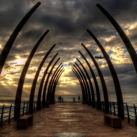 Umhlanga pier by Henry Starbuck - Buildings & Architecture Bridges & Suspended Structures ( #seascape, #clouds, #kzn, #water, #sunrise )