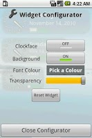 Screenshot of Time Widget